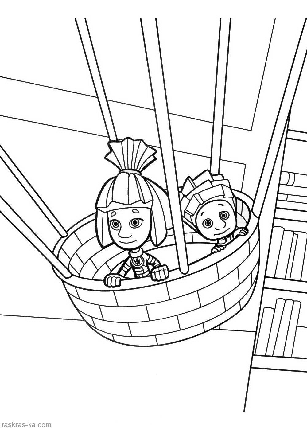 Раскраски из мультфильма Фиксики