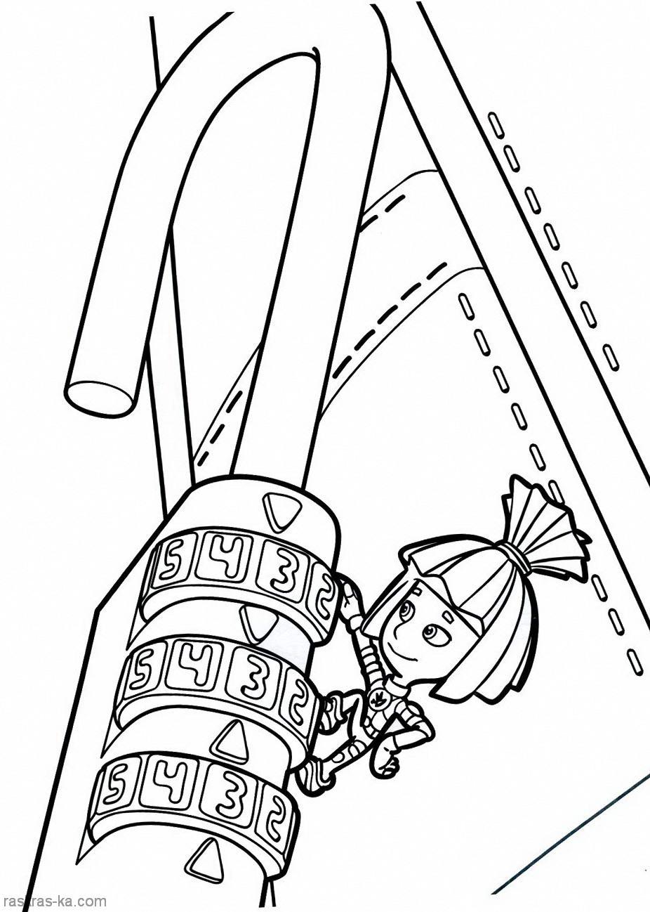 Раскраска из сериала Фиксики - Симка