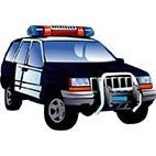 Раскраски полицейские машины. Транспорт, техника