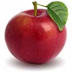 Раскраски фруктов - яблоки