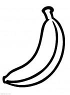 Разукрашки для самых маленьких. Банан, еда распечатать