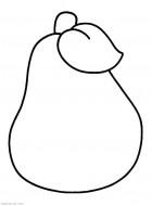 Груша - раскраска для маленьких. Еда, продукты