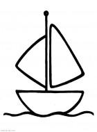 Распечатать раскраски для маленьких. Детский Кораблик