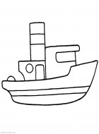 Раскраска пароход. Для самых маленьких. Скачать бесплатно