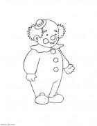 Раскраска клоун - для малышей распечатать