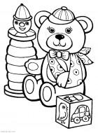 Раскраски для маленьких детей об игрушках распечатать