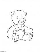 Мишка. Раскраски для малышей - игрушки распечатать