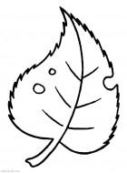 Лист. Раскраски о природе для маленьких скачать
