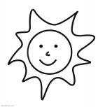 Солнышко - раскраски для маленьких распечатать