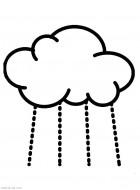 Тучка и дождик. Раскраски для малышей. Скачать бесплатно