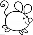 Раскраски для самых маленьких. Животные. Мышка