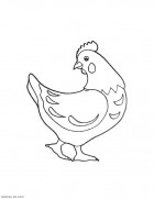Раскраска курица. Для маленьких детей бесплатно