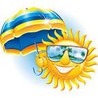 Раскраски лето, море, солнце