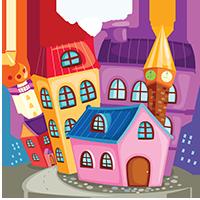 Раскраски архитектура, дома, постройки, дворцы