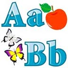 Английский алфавит с картинками. Развивающие раскраски