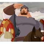 Богатыри - раскраски из русских мультфильмов