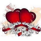 День Святого Валентина. Раскраски к празднику