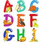 Развивающие раскраски. Английские буквы - алфавит, прописи