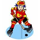 Раскраски зимний спорт. Хоккей на льду