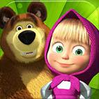 Маша и медведь. Распечатать раскраски из отечественных мультфильмов