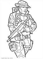 Раскраска солдат, военный, армия