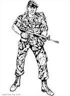 23 февраля - День защитника Отечества. Бесплатная раскраска