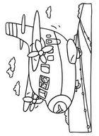 Раскраска самолет для детей. Распечатать бесплатно