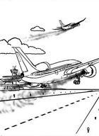 Картинка самолет. Раскраска на сайте для детского творчества