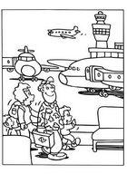 Раскраска аэропорт, аэродром, самолеты