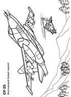Раскраски для мальчиков. Самолет-истребитель Су-25. Военная техника